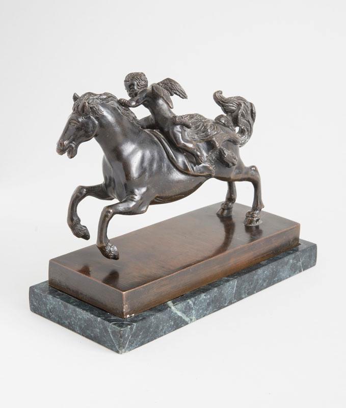 MANNER OF FRANCESCO FANELLI (1577-1657): CUPID ON HORSEBACK