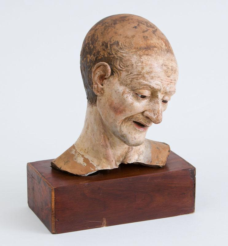 ATTRIBUTED TO MANZONI: HEAD OF A MAN