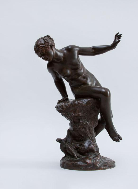 AFTER BENEDICT BENOIT ROUGELET (1834-1894) BATHER OBSERVING DOVES