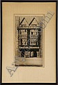 JOHNSTONE BAIRD (19TH/20TH C.) Etching, 12 1/2 x 7, Johnstone Baird, Click for value