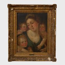 Style of Hans Van Aachen (1552-1615): Mother and Children