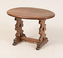 Continental Baroque Style Stained Walnut Side Table