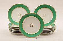 Set of Fourteen Paris Porcelain Plates