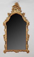 Venetian Rococo Style Carved, Painted and Parcel-Gilt Mirror