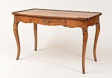 French Provincial Stained Fruitwood Writing Table, 20th Century