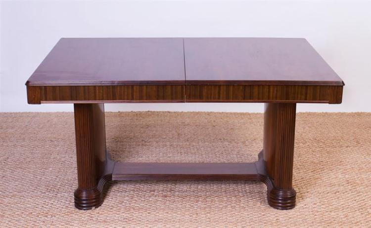 Art deco walnut extension dining table for 144 dining table