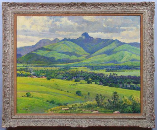 DOMINGO RAMOS (1894-1967), MAJESTIC LANDSCAPE Oil on can