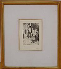 PABLO PICASSO (1881-1973): VIEUX FAUNE AVEC UNE POUPÉE VIVANTE, FROM 347 SERIES (BLOCH 1558), 1968