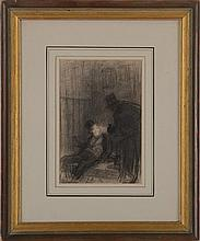 ATTRIBUTED TO HONORÉ DAUMIER (1808-1879): THE CONVERSATION