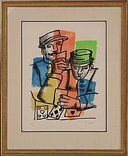 FERNAND LEGER (1881-1955): LES SOLDATS, 1952