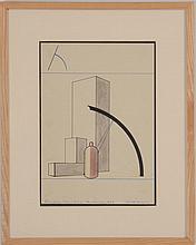 GERD BALZER (1909-1985): ANALYTIC DRAWING, 1929