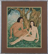 EDMUND DULAC (1882-1935): THE BIRTH OF EVE, FROM THE ILLUSTRATED LONDON NEWS