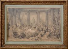 AFTER THOMAS COUTURE (1815-1879): STUDY FOR THE DECADENCE OF THE ROMANS