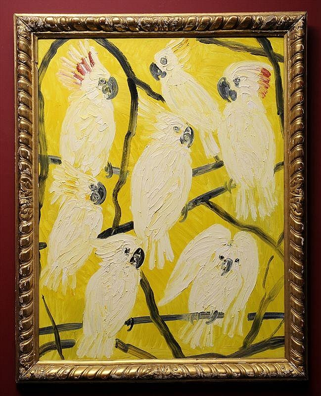 HUNT SLONEM (b. 1951): COCKATOOS