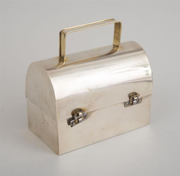 Decorative Box Lunches : Cartier sterling silver lunch box with velvet liner