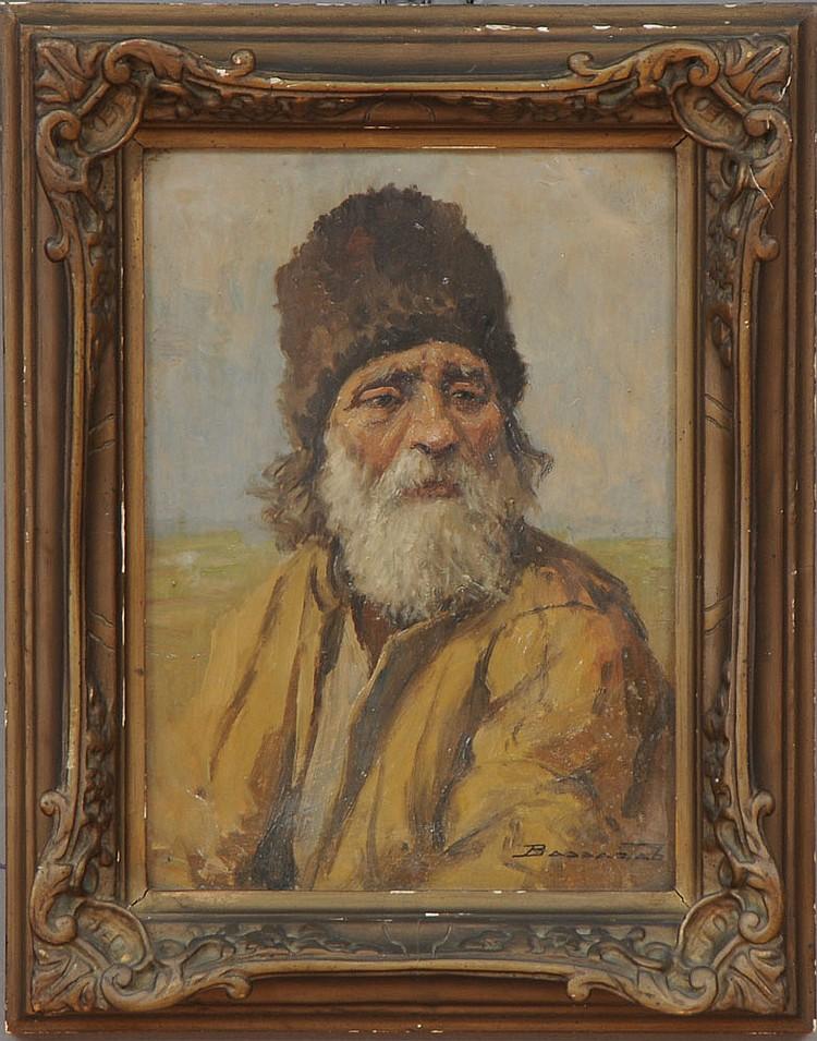 LUDOVIC BASSARAB (1868-1933): BEARDED PEASANT