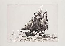 REYNOLDS BEAL (1867-1951): BLOCK ISLAND, DOUBLE ENDER; PINKY GLEANER, GLOUCESTER; AND ROCKPORT SLOOPS