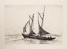 REYNOLDS BEAL (1867-1951): DEEP SEA FISHERMAN; MACKEREL SEINING, OFF GLOUCESTER; BLOCK ISLAND FISHING FLEET; AND MARBLE HEAD YACHTS...