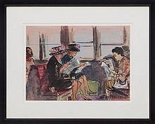 CECIL BELL (1906-1970): GIRL ON A FERRY