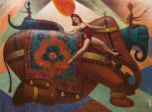 MILTON ROCKWELL BELLIN (1913-1997): CIRCUS ELEPHANT
