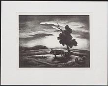 THOMAS HART BENTON (1889-1975): SUNSET