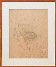 ATTRIBUTED TO ISABEL BISHOP (1902-1988): SEATED NUDE