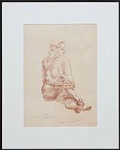 PHILIP EVERGOOD (1901-1973): UNTITLED (NUDE)