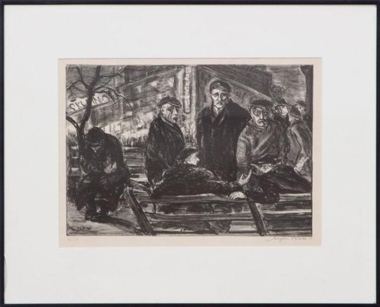 EUGENE CAMILLE FISCH (1892-1972): UNEMPLOYED UNION SQUARE