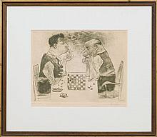 WILLIAM GROPPER (1897-1977): CHESS PLAYERS