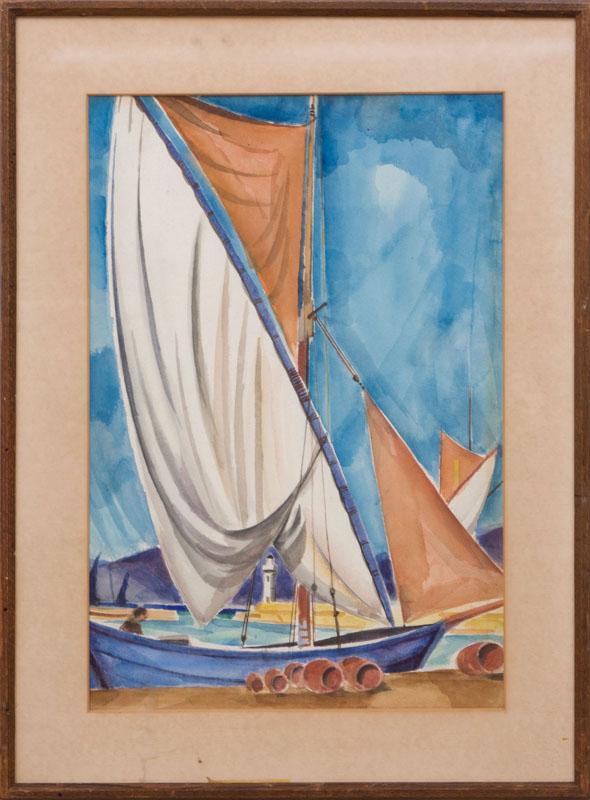 BETRAM HARTMAN (1882-1960): SAILBOAT