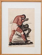 WILLIAM L''ENGLE (1885-1957): WRESTLERS