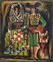 ATTRIBUTED TO PEDRO FLORES (1897-1967): MARSEILLE SUR LES QUAIS