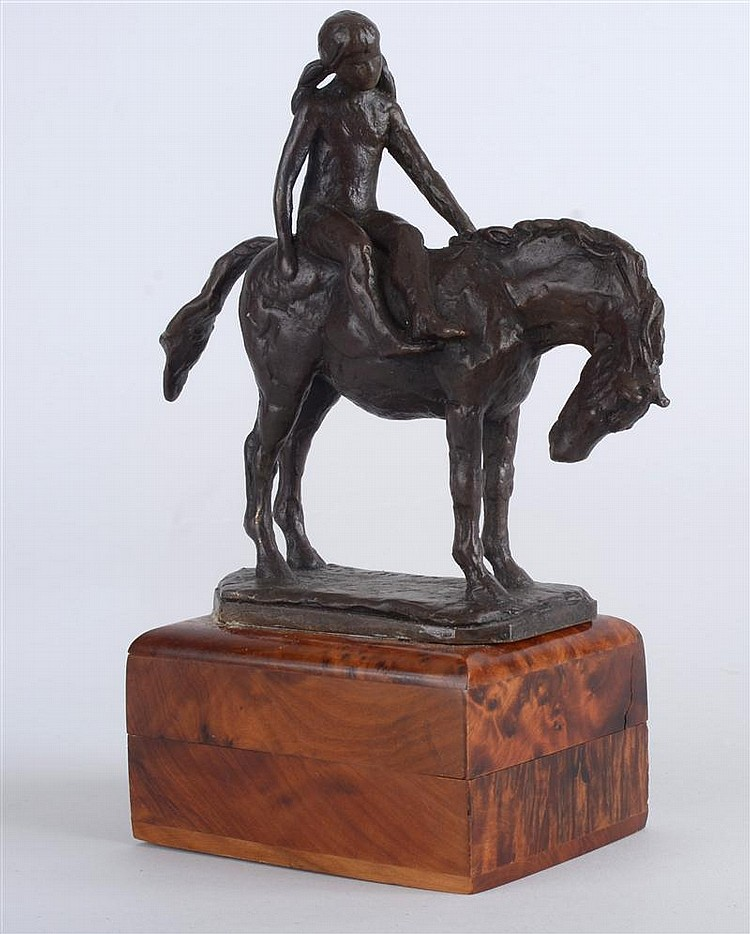 T.D. Kelsey (American, b. 1946): Female Figure on Horse