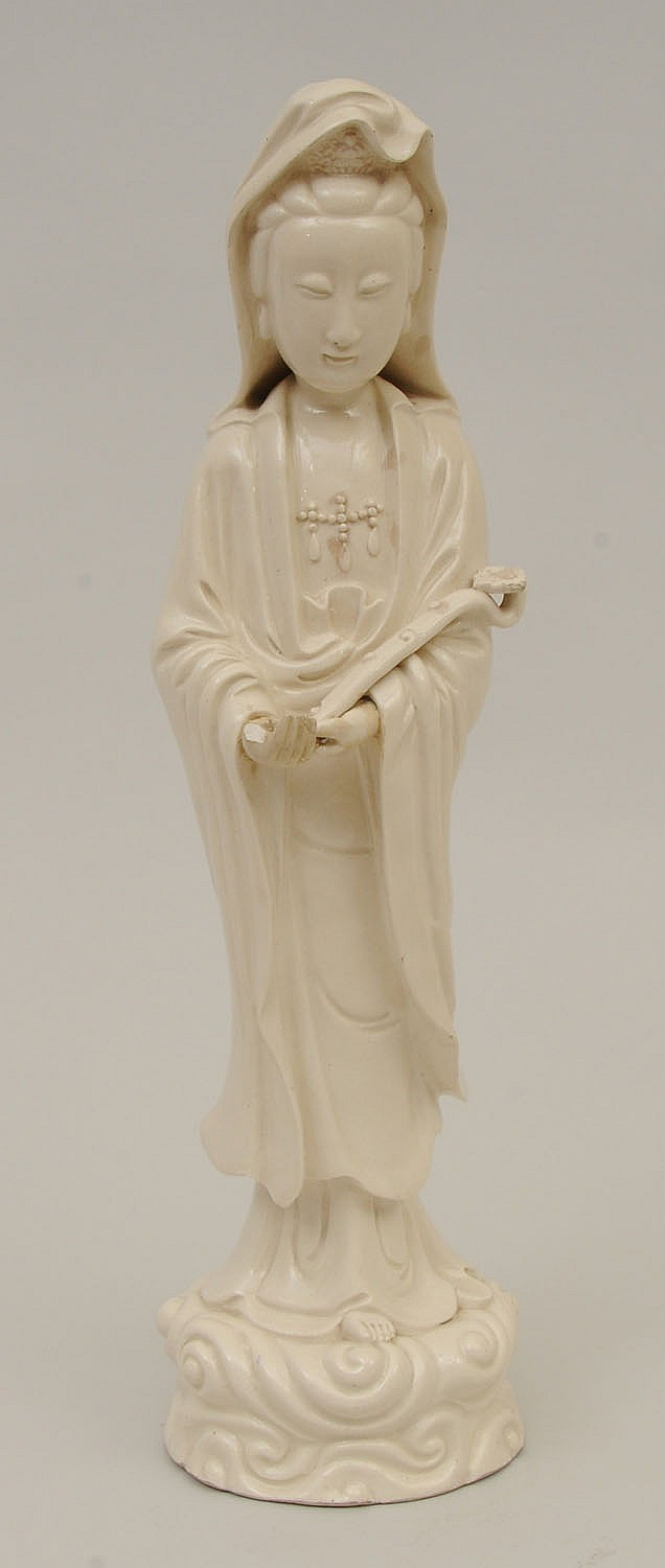 Chinese Earthenware Figure of Kwan Yin