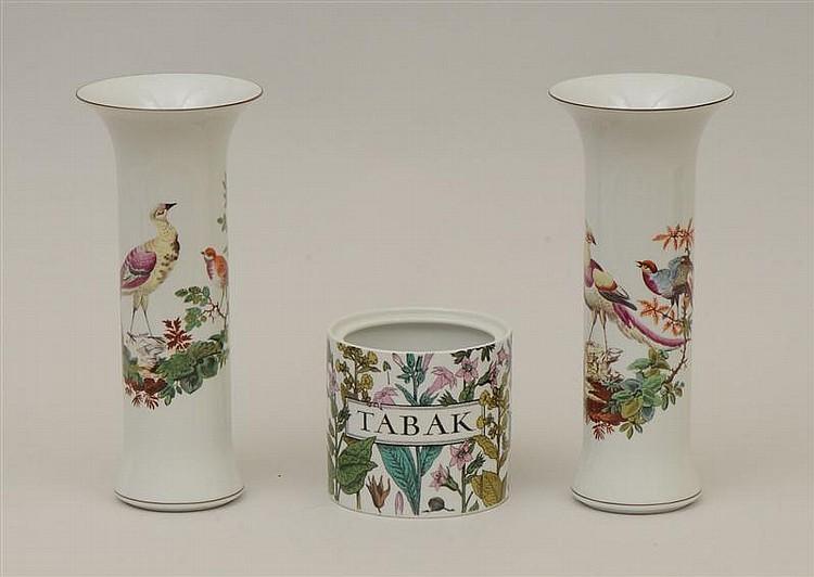 Pair of Mottahedeh Porcelain Beaker Vases