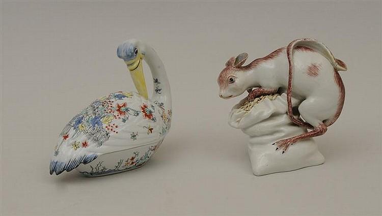Paris Porcelain Model of a Duck
