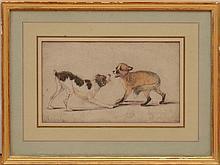 ATTRIBUTED TO JOHANN MORITZ RUGENDAS (1802-1858): FOX AND HOUND