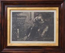 AFTER EDWARD COLEY BURNE-JONES (1833-1898): LE CHANT D'AMOUR