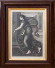 ENGLISH SCHOOL: WOMAN WITH STRING INSTRUMENT
