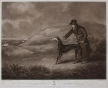 WILLIAM WARD (1766-1826), AFTER HENRY BERNARD CHALON (1770-1849): PORTRAIT OF THE CELEBRATED GREYHOUND SNOWBALL