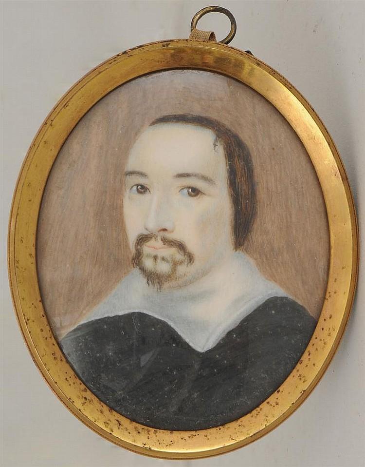 Portrait Miniature of a Learned Gentleman