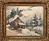 20th Century School: Barn in Winter, Guy Arthur Wiggins, Click for value