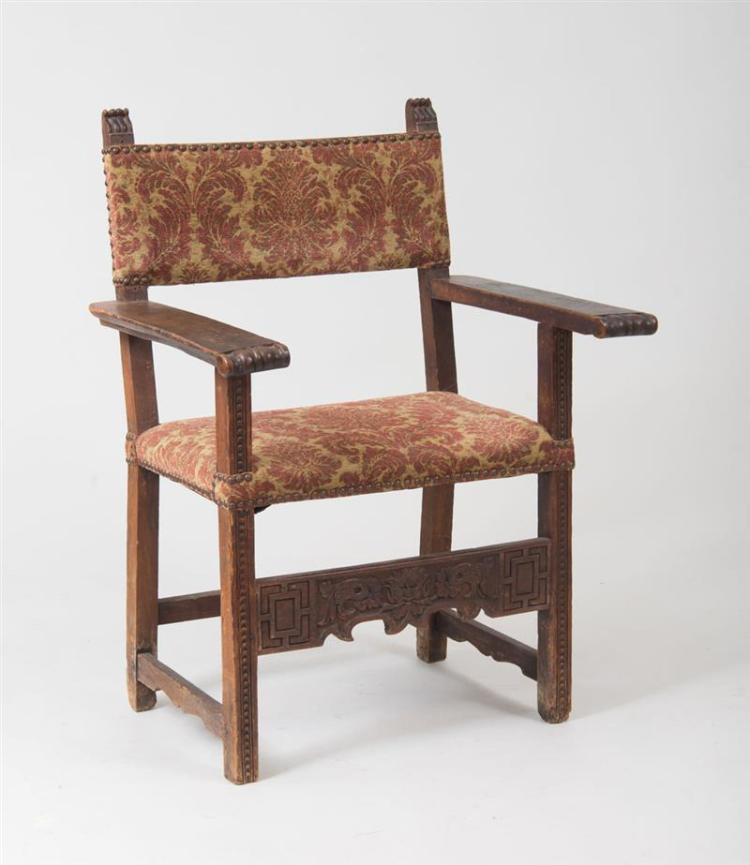 Spanish baroque walnut armchair for Spanish baroque furniture