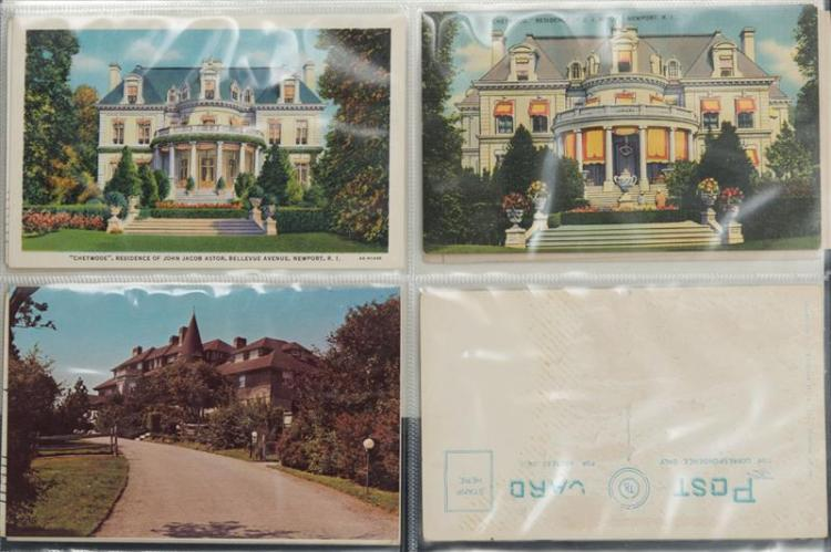 Collection of postcards related to palm beach and newport for Palm beach home collection