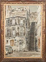 Isamu Hirakawa (1921-1989): Rue Drevet, Montmartre
