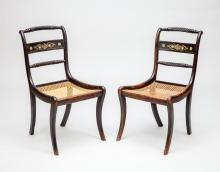 Pair of Regency Painted Side Chairs