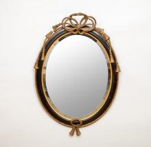 Napoleon III Ebonized and Giltwood Mirror