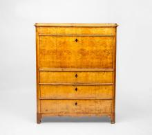 Swedish Neoclassical Style Birch Fall-Front Secrétaire