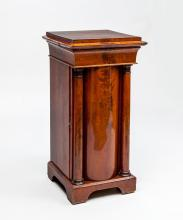 Danish Neoclassical Mahogany Pot Cabinet