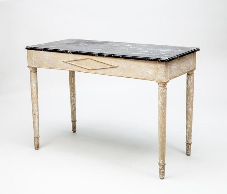 Continental Neoclassical Style Grey Painted Console